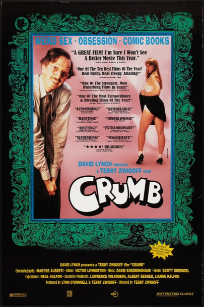 CRUMB (1995) 6397 Original Sony Pictures One Sheet Poster (27x41).  Rolled.  Very Fine Plus.