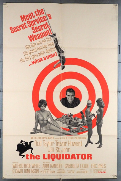 LIQUIDATOR, THE (1965) 4258 Original MGM Style A One Sheet Poster (27x41).  Folded.  Very Fine Condition.