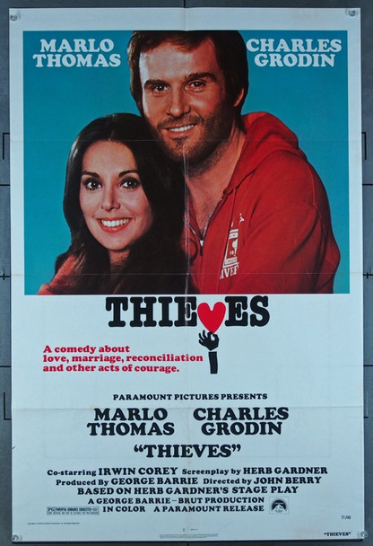 THIEVES (1977) 3649 Original Paramount Pictures One Sheet Poster (27x41).  Folded.  Fine Plus Condition.