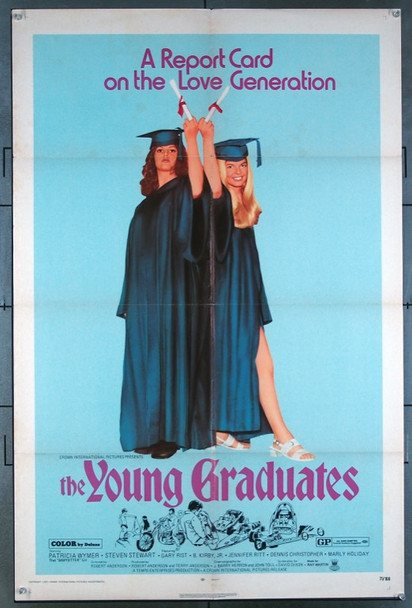YOUNG GRADUATES, THE (1971) 3652 Original Crown International Pictures One Sheet Poster (27x41).  Folded.  Fine Condition.