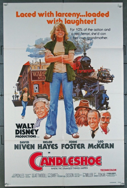 CANDLESHOE (1977) 26150 Original Walt Disney Productions One Sheet Poster (27x41).  Folded.  Very Fine Condition.