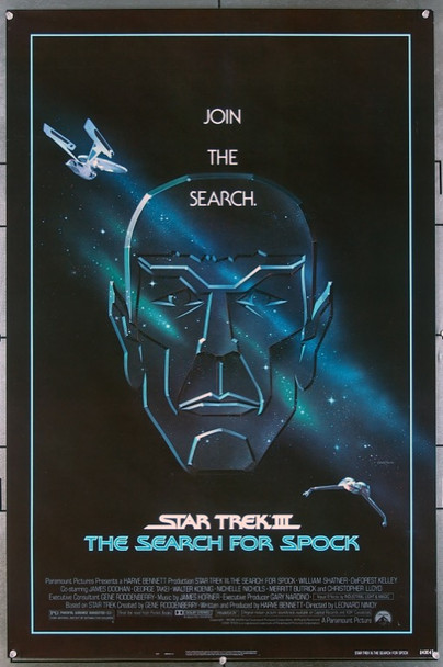 STAR TREK III:  THE SEARCH FOR SPOCK (1984) 196 Original Paramount Pictures One Sheet Poster (27x41).  Rolled.  Very Fine Plus Condition.