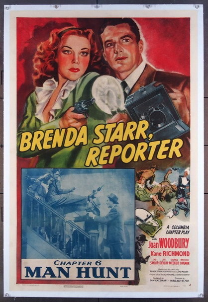 BRENDA STARR, REPORTER (1945) 22512 Columbia Pictures Original One-Sheet Poster (27x41) Linen Backed  Very Fine Condition
