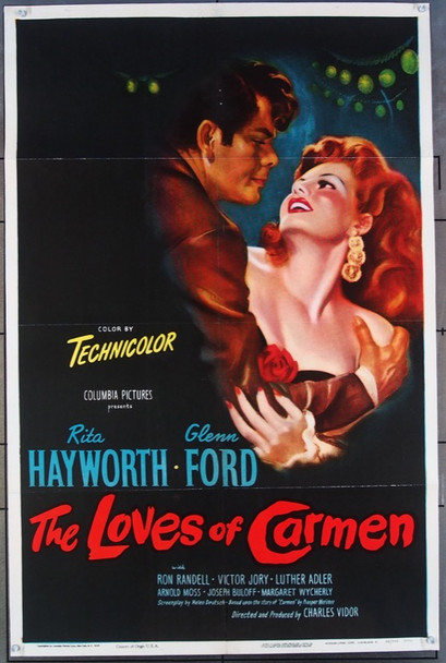 LOVES OF CARMEN, THE (1948) 9580 Columbia Pictures Original One Sheet Poster  27x41  Paper backed