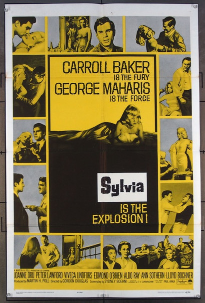 SYLVIA (1965) 11227 Paramount Pictures One-Sheet Poster  (27x41)  Folded  Very Fine Condition