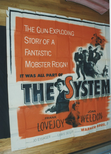 SYSTEM, THE (1953) 9975 Warner Brothers Original Six Sheet (81x81)  Assembled and Folded.  Condition Good
