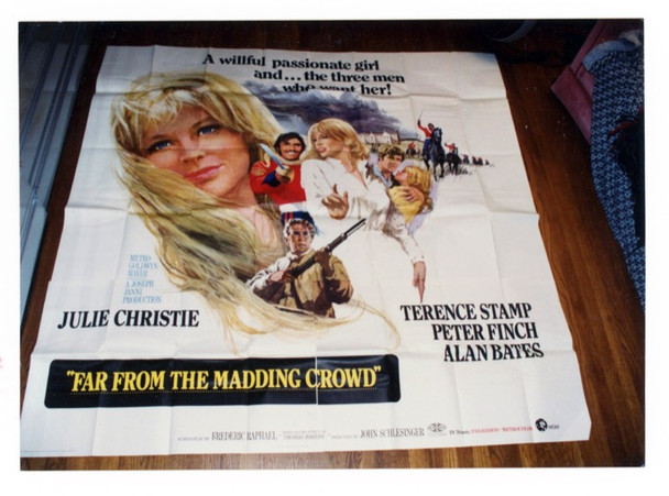 FAR FROM THE MADDING CROWD (1967) 9261 MGM Original Six-Sheet Poster  (81x81) Folded  Fine Plus to Very Fine Condition