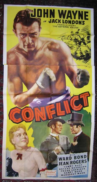 CONFLICT (1936) 15992 Universal Re-release Three Sheet Poster (41x81) Year of issue 1947 Very Good Condition  Realart Releasing