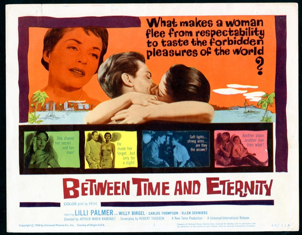 BETWEEN TIME AND ETERNITY (1960) 8982 Universal Pictures Original Title Lobby Card (11x14) Very Fine Plus Condition