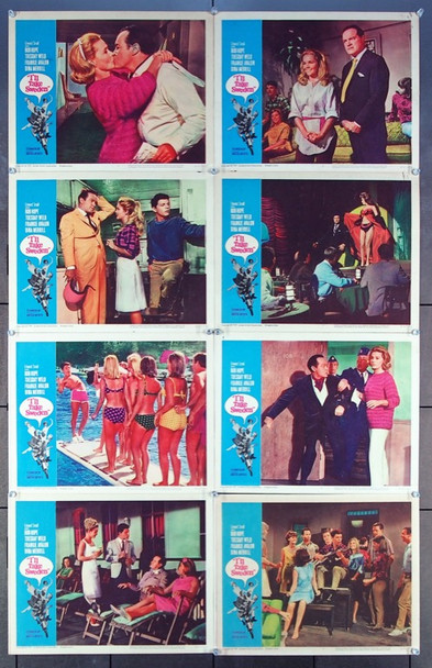 I'LL TAKE SWEDEN (1965) 8979 United Artists Original Lobby Card Set (11x14) Eight Cards  Fine Condition