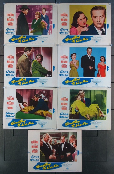 SOMETHING TO LIVE FOR (1952) 8978 Paramount Pictures Original Lobby Cards Group  (11x14)  Seven Cards  Fine Condition