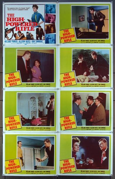 HIGH-POWERED RIFLE, THE (1960) 8981 20th Century Fox Original Lobby Card Set (11x14) Eight Cards  Very Fine Condition