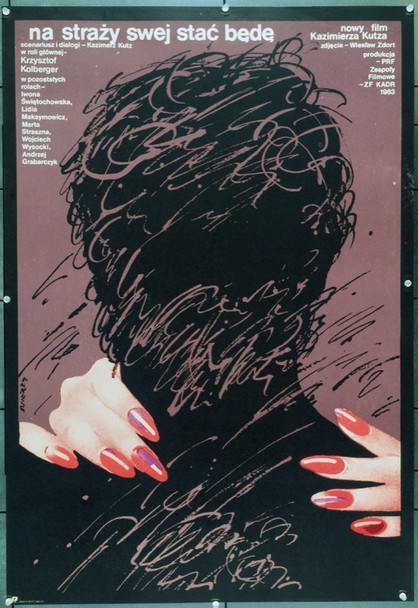 I SHALL ALWAYS STAND GUARD (1984) 22245 Original Polish Poster (26x37).  Swierzy Artwork.  Unfolded.  Very Fine.