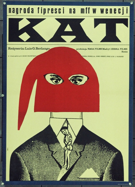 EXECUTIONER, THE (1963) 22287 Original Polish Poster (23x33).  Hibner Artwork.  Unfolded.  Very Fine.