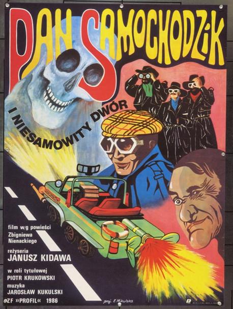 MR. AUTOMOBILE & THE UNEARTHLY MANSION (1987) 22227 Original Polish Poster (27x38).  Mikulska Artwork.  Unfolded.  Very Fine.
