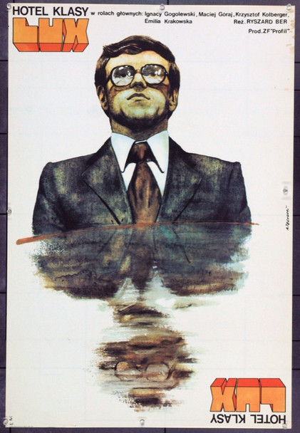 FOUR-STAR HOTEL (1979) 22301 Original Polish Poster (25x37).  Pagowski Artwork.  Unfolded.  Very Fine.