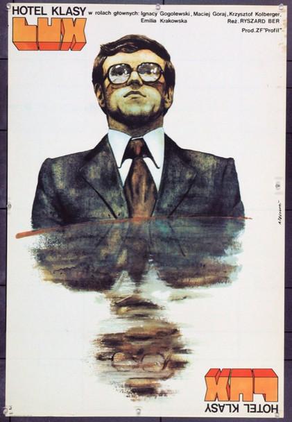 FOUR-STAR HOTEL (1979) 22301 Original Polish Poster (25x37).  Pagowski Artwork.  Unfolded.  Very Fine.