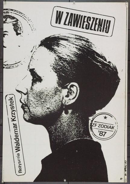 SUSPENDED (1987) 22307 Original Polish Poster (27x38).  Erol Artwork.  Unfolded.  Very Fine.