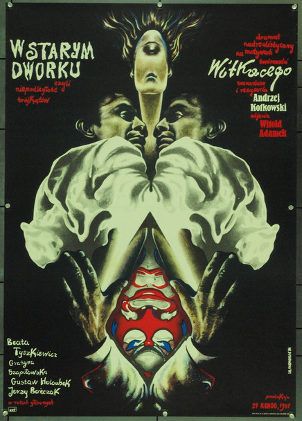 IN THE OLD MANOR HOUSE (1985) 22309 Original B Style Polish Poster (27x39).  Dybowski Artwork.  Unfolded.  Very Fine.