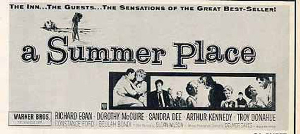 SUMMER PLACE, A (1959) 14286 Warner Brothers Original 24-sheet Poster  (9 feet by 20 feet)  Good Condition