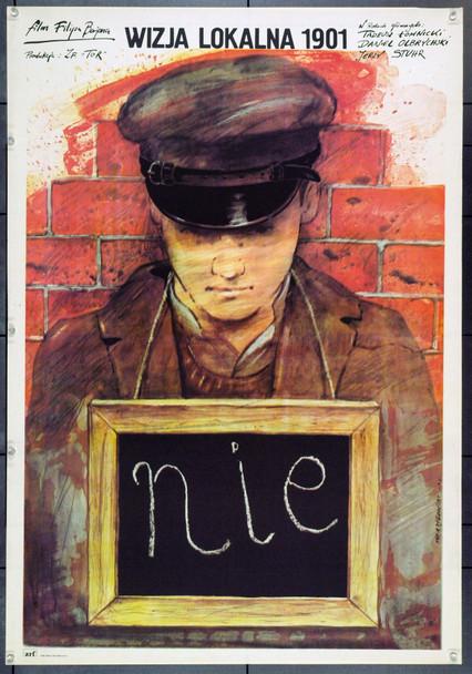INSPECTION OF THE CRIME SCENE 1901 (1980) 22311 Original Polish Poster (27x38).  Pagowski Artwork.  Unfolded.  Very Fine.