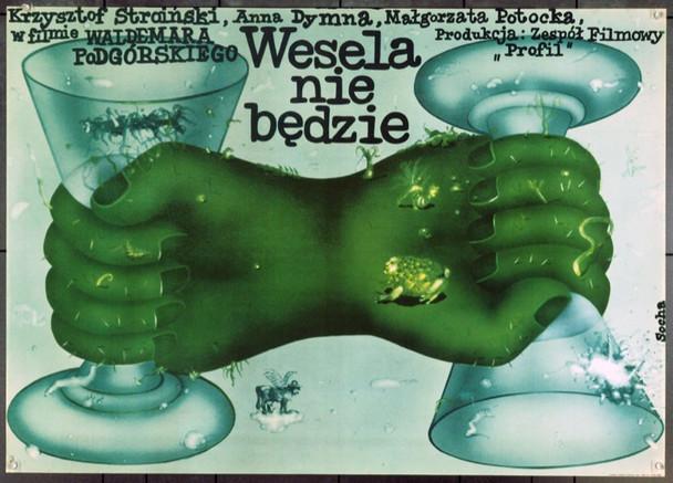 WEDDING'S OFF (1978) 22314 Original Polish Poster (27x38).  Socha Artwork.  Unfolded.  Very Fine.