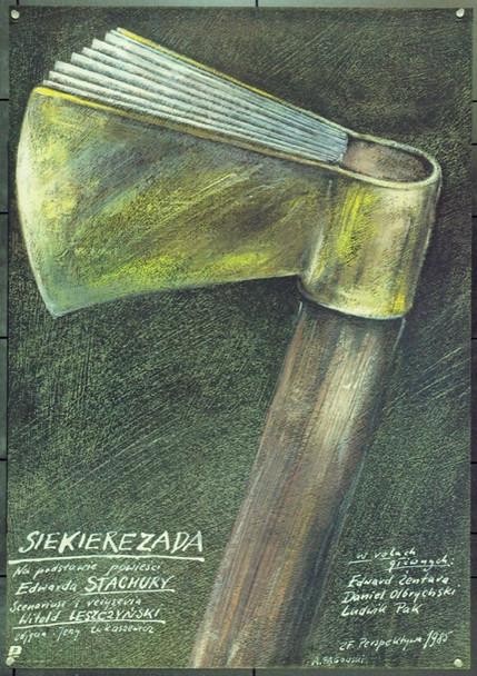 AXILIAD (1986) 22375 Original Style B Polish Poster (26x37).  Pagowski Artwork.  Unfolded.  Very Fine.