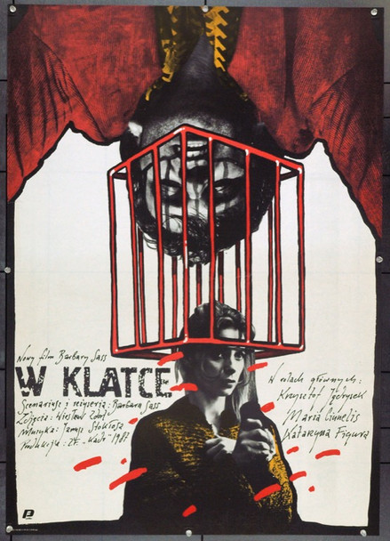 CAGED (1988) 22319 Original B Style Polish Poster (27x37).  Unfolded.  Very Fine.
