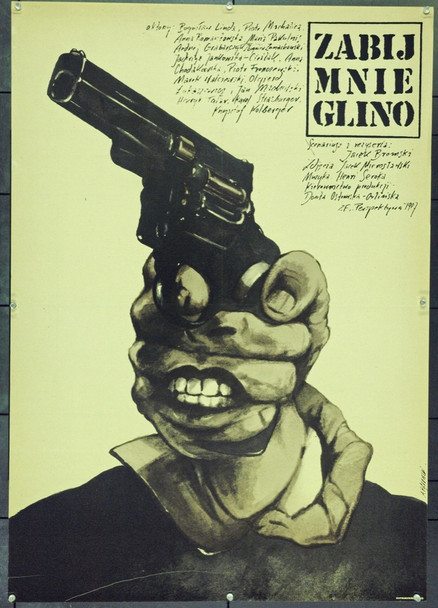 KILL ME, COP (1988) 22390 Original Style B Polish Poster (27x38).  Pagowski Artwork.  Unfolded.  Very Fine.
