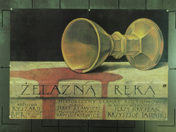IRON HAND, THE (1989) 22216 Original Polish Poster (27x38).  Walkuski Artwork.  Unfolded.  Very Fine Condition