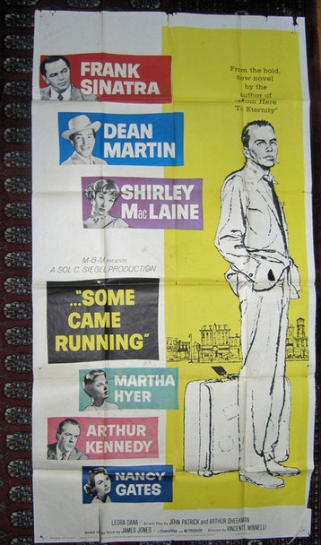 SOME CAME RUNNING (1959) 16022 MGM Original Three Sheet Poster (41x81) Very Good Average Used Condition  Folded