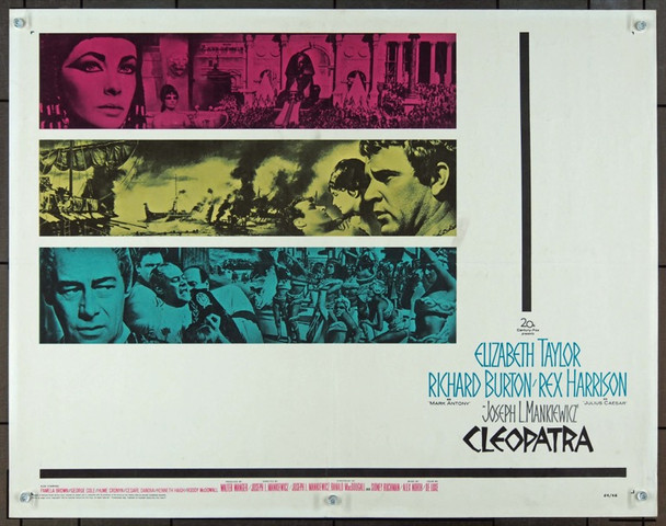 CLEOPATRA (1963) 839 20th Century Fox Original Half Sheet Poster    22x28   Rolled  $125.00