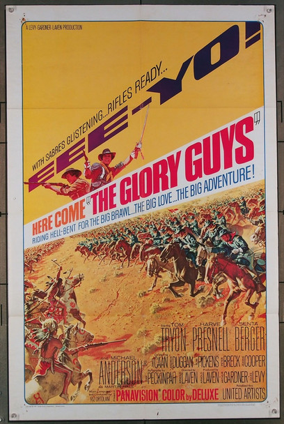 GLORY GUYS, THE (1965) 2248 United Artists Original Style A One-Sheet  27x41  Very Good Condition