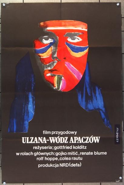 ULZANA (1974) 22789 DEFA Original Polish 22x33 Poster  Folded  Very Fine Condition