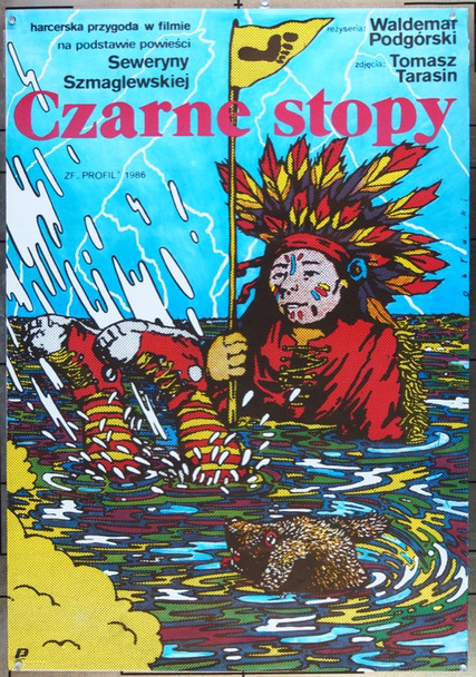 BLACK FEET (1987) 25761 Original Zespol Filmowy Profil Polish 28x38 Poster  Lightly Folded  Very Fine Condition