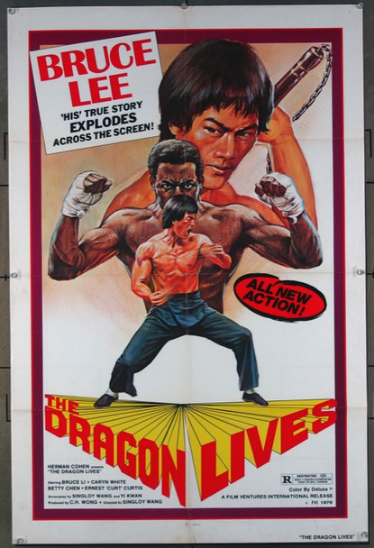 DRAGON LIVES, THE (1978) 26458 Film Ventures Original One-Sheet Poster  27x41  Folded  Very Fine Condition