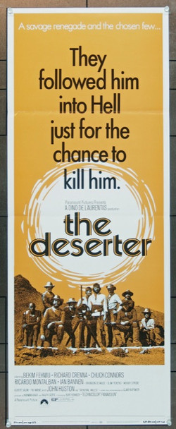 DESERTER, THE (1971) 8101 Original Paramount Insert Poster   Folded   14x36  Fine Plus to Very Fine Condition