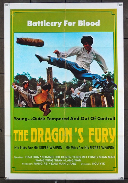 DRAGON'S FURY, THE () 26466 THE DRAGON'S FURY Undated Hong Kong film poster (24x36)