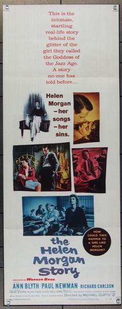 HELEN MORGAN STORY (1957) 14081 Warner Brothers Original Insert Poster  (14x36)  Folded  Fine Condition