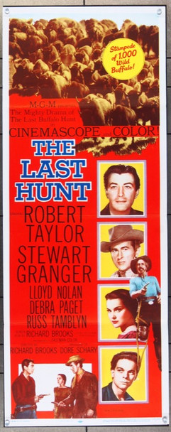 LAST HUNT, THE (1956) 25357 MGM Original Insert Poster (14x36) Folded  Very Good to Fine Condition