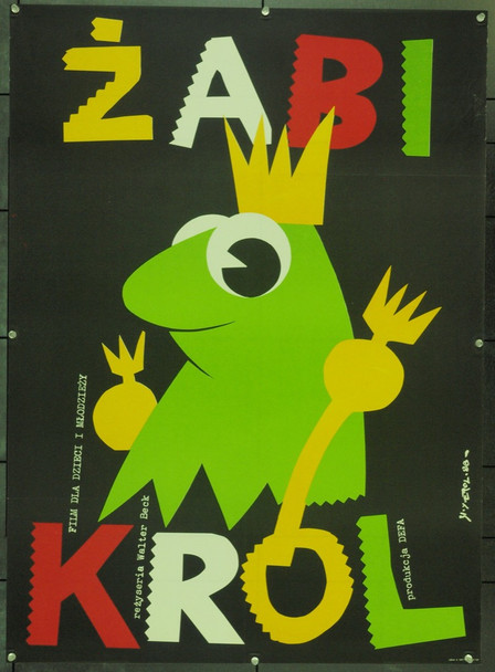 FROG PRINCE, THE (1988) 22137 Original Polish Poster (27x37).  Erol Artwork.  Unfolded.  Very Fine.