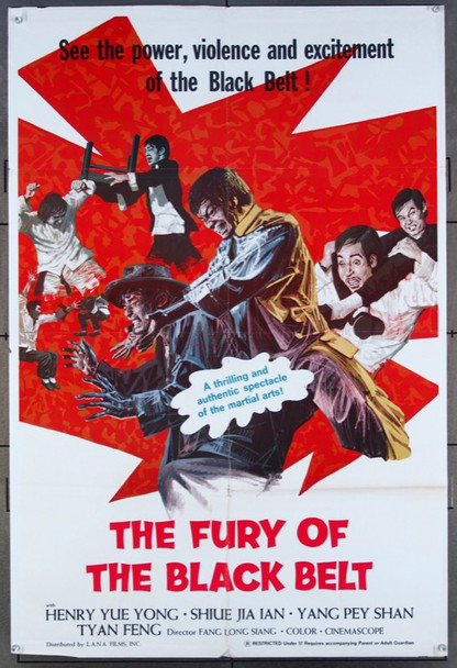 FURY OF THE BLACK BELT, THE         (1975) 26473 L.A.N.A Films Original One-Sheet Poster (27x41) Folded  Very Fine Condition