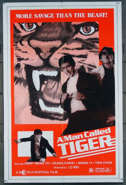 MAN CALLED TIGER, A (1981) 26477 World Northal One-Sheet Poster (27x41) Folded  Very Fine Condition