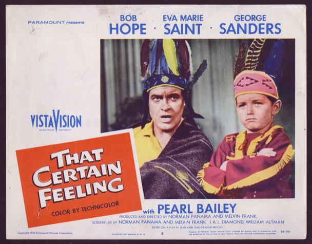 THAT CERTAIN FEELING (1956) 25704 Paramount Original Scene Lobby Card (11x14) Good Condition