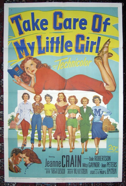 TAKE CARE OF MY LITTLE GIRL (1951) 2337 20th Century Fox Original One-Sheet Poster (27x41) Folded Fine Plus Condition