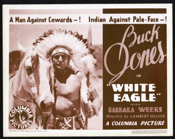 WHITE EAGLE (1932) 25732 Columbia Pictures Original Title Lobby Card (11x14) Very Fine Condition