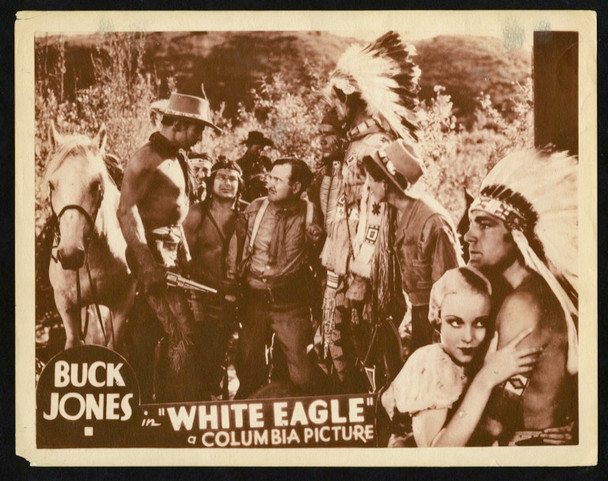 WHITE EAGLE (1932) 25733 Columbia Pictures Original Scene Lobby Card (11x14) Very Good Condition