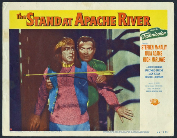 STAND AT APACHE RIVER, THE (1953) 25695 Universal Pictures Original Scene Lobby Card (11x14) Fine Plus Condition
