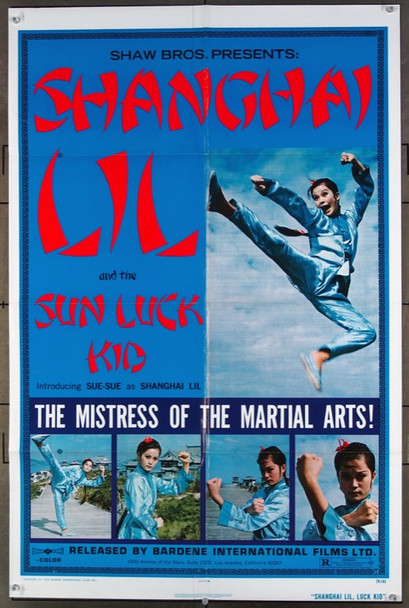 SHANGHAI LIL AND THE SUN LUCK KID (1974) 26493 Bardene International One-Sheet Poster (27x41) Folded  Very Good Plus to Fine Condition