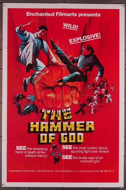 HAMMER OF GOD, THE (1973) 26492 Enchanted Filmarts Original One-Sheet Poster (27x41) Folded  Fine Condition  Theater-Used